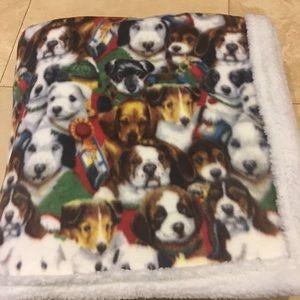 Fleece Dog Sherpa Blanket